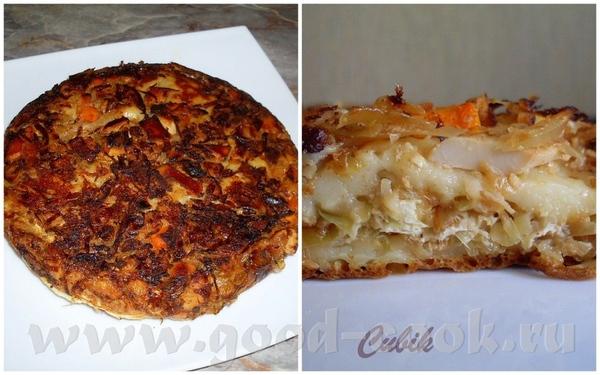 у меня сегодня по-простому, запеканка -пирог с капустой : Тесто: -стакан кефира -яйцо -слив