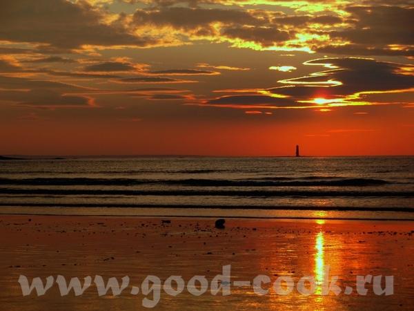 Вот мая фотография- закат в океан Атлантас в Ирландии