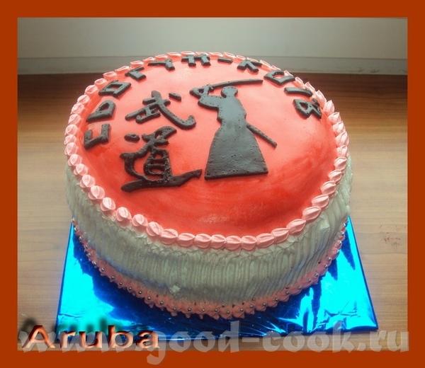Мой новый торт, учусь украшать кремом - 2