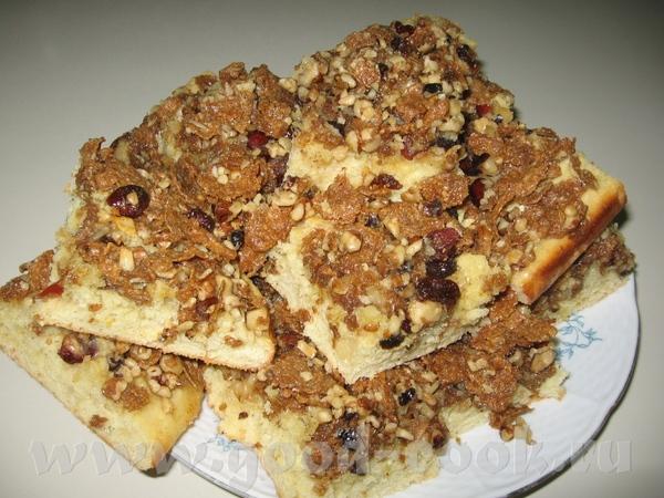 Несу спасибку БабЛене за пирог с кукурузными хлопьями, правда ка всегда подстроила под то что было...