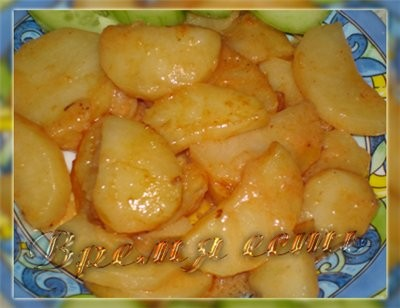 """""""Картофель запеченный в соусе"""" от Карины с кукинга 7 шт (500 г картофеля для запекания) 1 ст"""