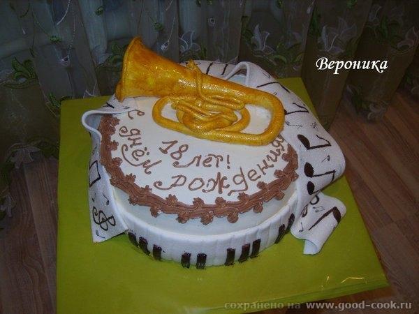 вот ещё 2 тортика: для будущей художницы: и торт для парня, который учится в муз - 3
