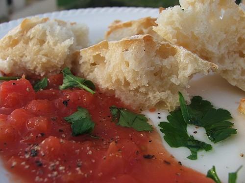 а у нас на ужин супчик зелененький овощной со шпинатом и макарошками с чабаттой от Аины - 2