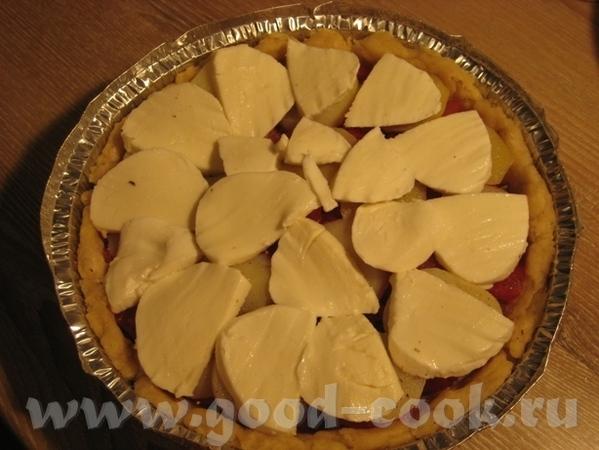 Тарт с картошкой, помидором и двумя сырами Рецепт теста взят в журнале Хлеб и Соль за август 2010 - 6