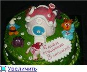 торт свадебный (жених и невеста съедобные) торт полянка смешариков - 7