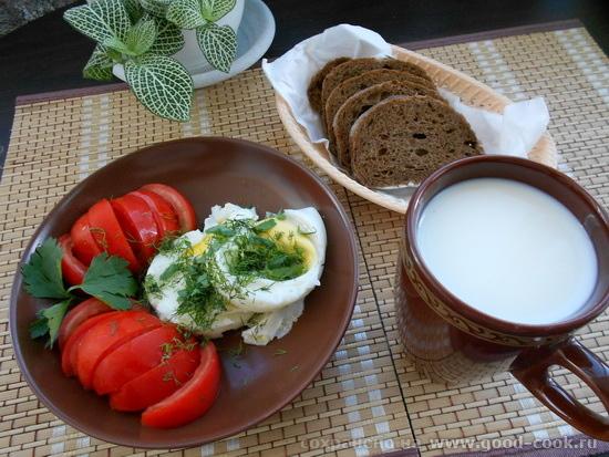 завтрак-яйца-томаты