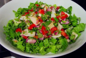Инуль, Я научилась наконец фотографии из picasa размещать, получай салат с севишем из камбалы