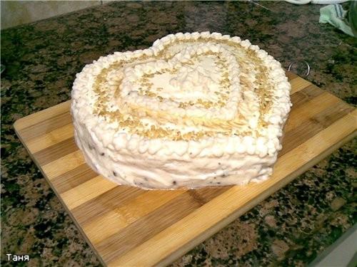 Апельсиновый торт-сердце