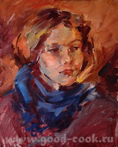 Так рисует художница к которой я ходила на курсы