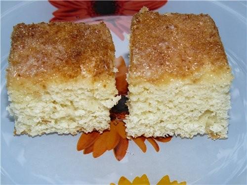 Как я выше написала, я пекла два пирога на одном листе - второй был ополовиненный Кокосовый