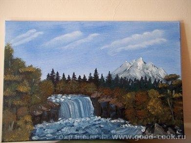 Водопад Лебедь Каллы Зима-2