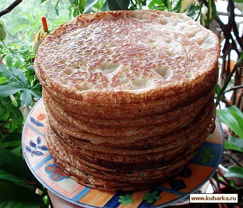 А у нас на завтрак была пшенно-рисовая каша и блины наскоро Блины можно съесть с чем-нибудь сладким - 2