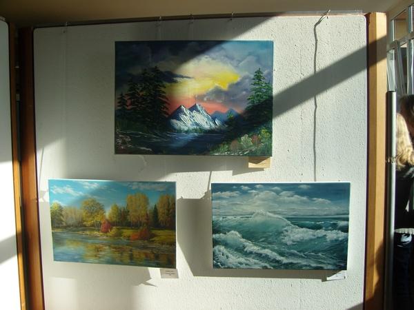 2 мои картины нижние висели рядом с Боб Россовскими