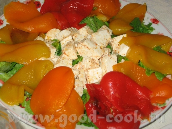 Средиземноморский сырный салат Быстрый салат с брынзой