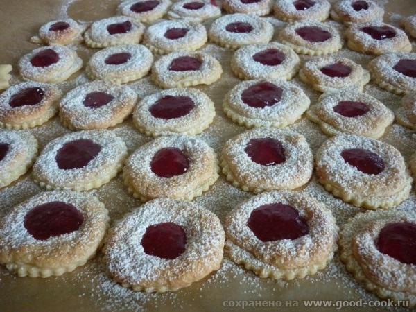 рецепт печенья Глаза павлина рецепт Отсюда Тесто для печенья: 250 гр муки 150 гр слив масла или маргарина 65 гр сахара... - 2