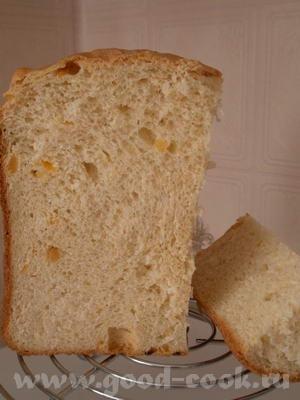 Испекла вчера Сметанный хлебушек с курагой с хлебопечке - 2
