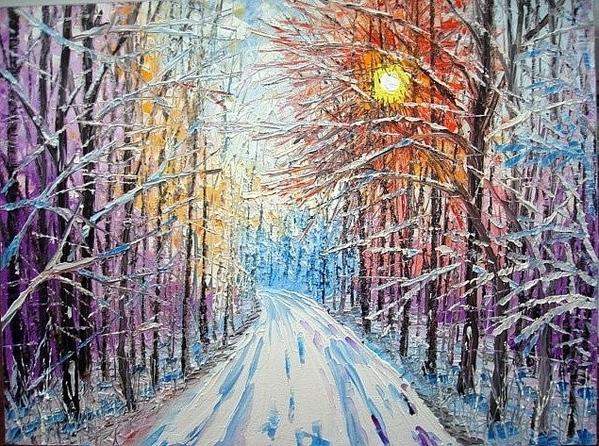 ПРОШУ ПРОЩЕНИЯ ЧТО С ОПОЗДАНИЕМ, ВАМ ПОКАЗЫВАЮ РАБОТЫ ЗИМНИЙ ВЕРНИСАЖ Зима – это сказочное время го... - 2