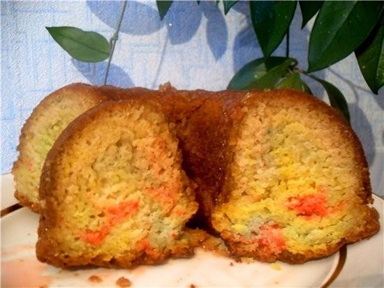 Кекс цветной 4 яйца 1,е стакана сахара 2 стакана кефира 1 пачка маргарина (200 грамм) 1 чайная ложк... - 3