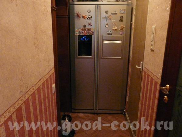 А это мой холодильник,стоит в нише между прихожей и входом на кухню