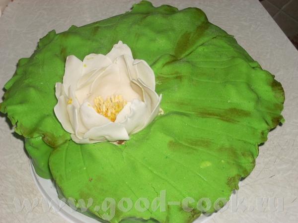 Ну и еще один мой тортик,обычный мастичный торт