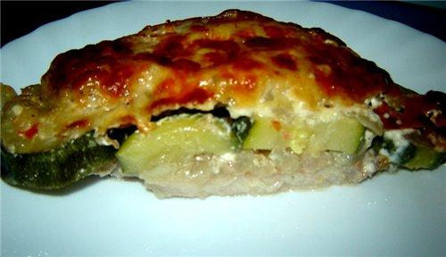 Budнn de carne y verduras Запеканка с мясом и овощами Блюдо это мы ели в ресторане