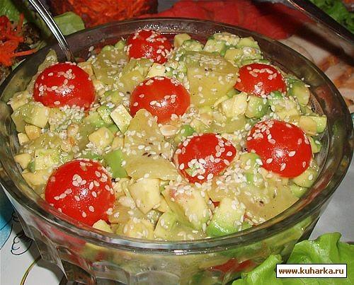 """У нас был тазик оливье , салат из авокадо и киви от Иланочки , салат """"Осенний вальс"""" от Lesya , кор... - 3"""