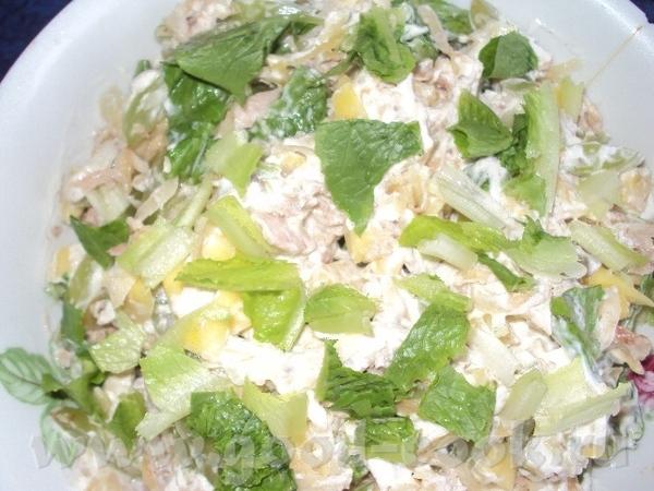 Спасибо Ларисе larissa1312 за Салат из курицы, манго и винограда рецепт тут Салат очень вкусный