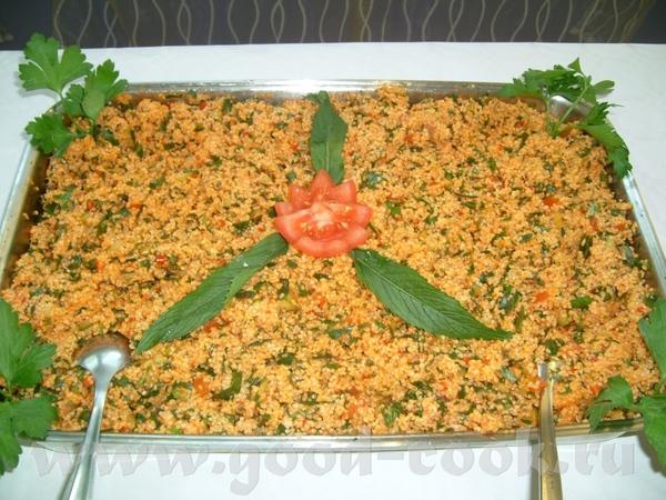 -салат из булгур (крупа) 2 стакана булгур петрушка лук зелёный 3-4 помидора или 2 болгарского перца...