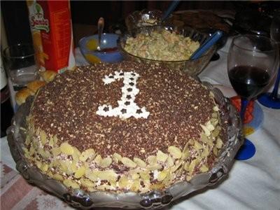 """тортик, мою придуманный, назовём """"шоколадный тортик с бананами, ореxами и курагой"""""""