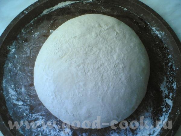 Теперь готовое тесто я вываливаю на силиконовую форму для пиццы, присыпанную мукой Формую колобок Д... - 2