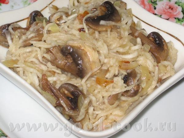 Салат из редиски и яйца Салат из шампиньонов с редькой от Lepi - 3