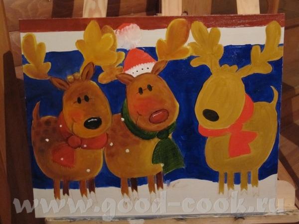 Хотела закончить новогоднюю картинку к праздникам, но уже не упеваю, поэтумоу буду дорисовывать ее...