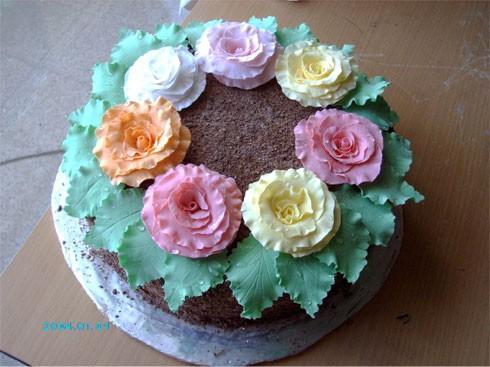 Девочки, моей дочке сегодня исполнилось 16 лет, вот мой торт ко дню рождения