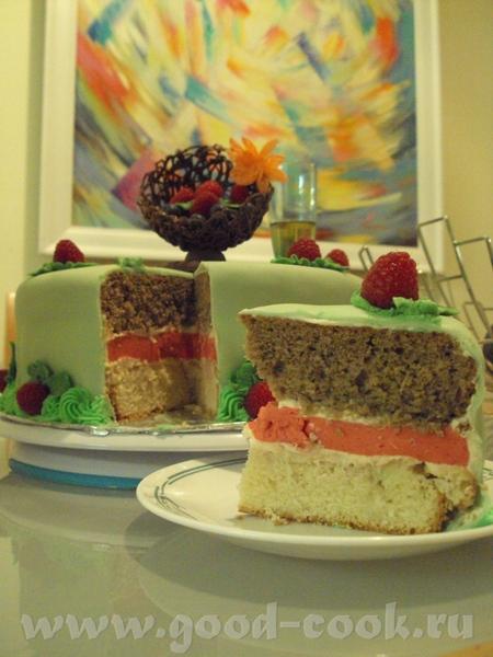 тортик с малиновым мусом - 2