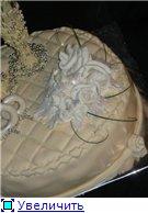 торт свадебный с бокалами и букетом роз торт мопаед - 2