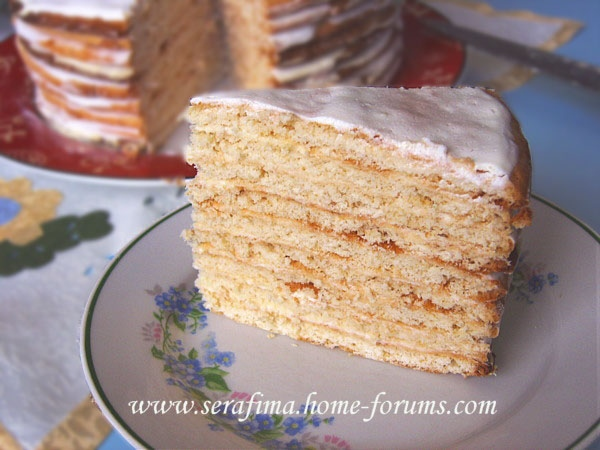 торт Наполеон Медовик со сметанным кремом - 2