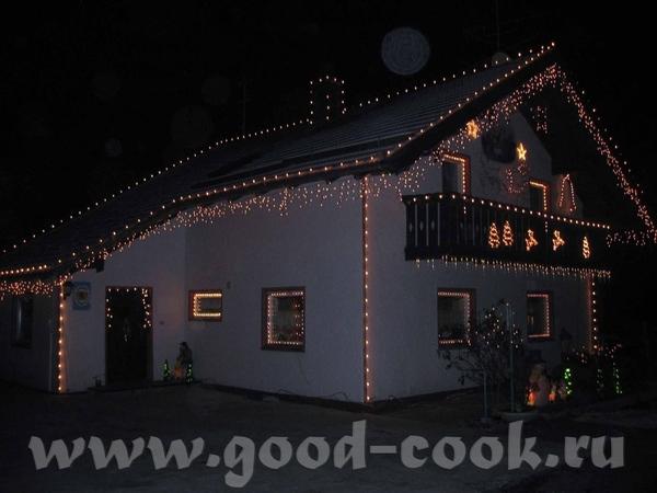 Вот такой домик стоит на трассе в Мюнхен каждый год проезжая мимо любуемся этим домиком, как огоньк... - 2