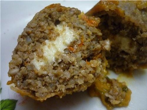 Гречнево-овсяные биточки с грибами в тыквенно-томатном соусе 150 г овсяных хлопьев 250 г гречки 0,5... - 7