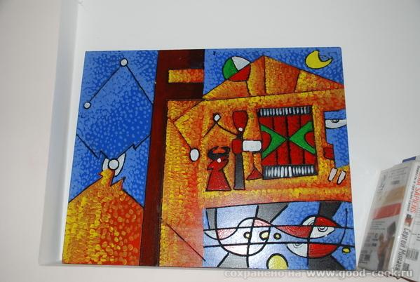 Это самая первая картиа (именно картина) абстракция и пуантилизм (вроде так)