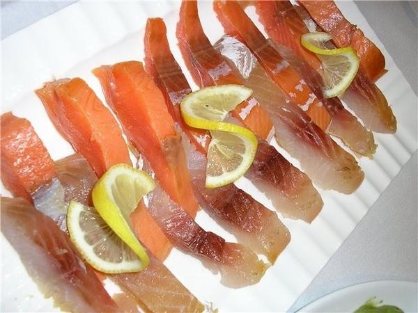 Ну и еще рыбка усякая и мЪясо отварное (яхние - арабская кухня) тоже на любой вкус: - 2
