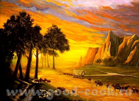 А вот тaк закат рисует xудожники: Здесь рисунки Красный закат неба Закат в Нью-Йорке Африканские бо... - 5