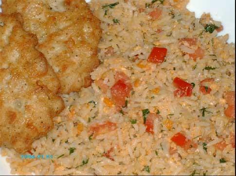 """После вчерашнего обеда у меня остался белый рис и, благодаря замечательным рецeптам - """"Жареный рис""""..."""
