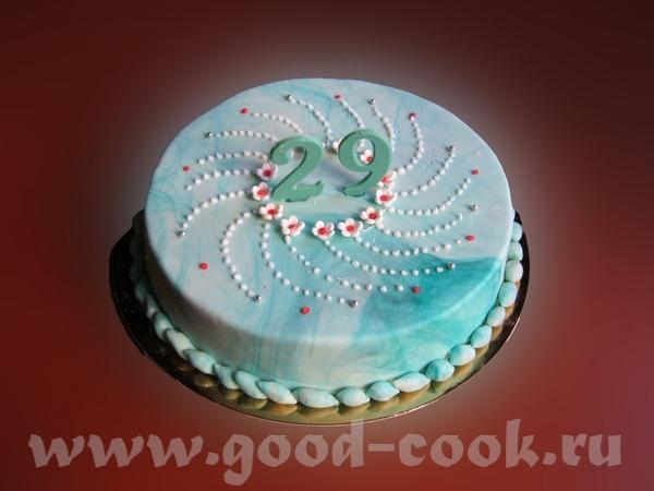 , у твоего торта, очень красивый цвет у мастики - 3