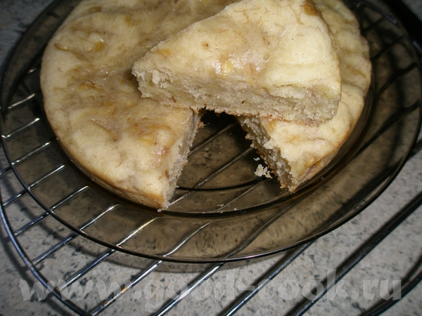 Банановый пирог на молоке в мультиварке