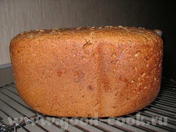 Сделала ржаной хлебушек с тмином , рецепт где-то был