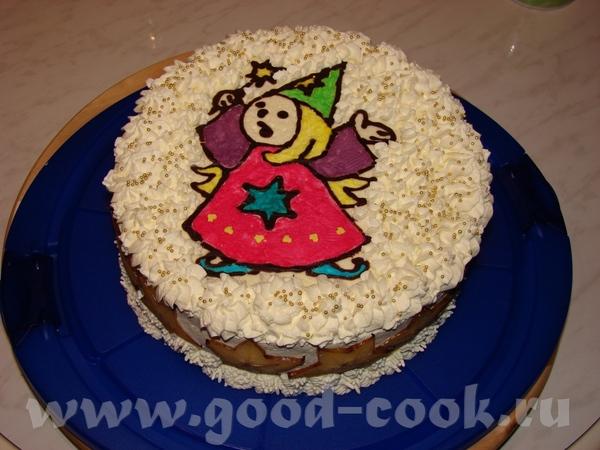 Пришла попозориться чуток Вчера заказали тортик для девочки, на 6 лет
