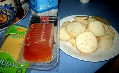 Berenjenas con bechamel Баклажаны запеченые под соусом бешамель На 2 порции: 1 баклажан Сыр - 80-10... - 2