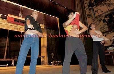 Репетиции справа на лево: Кюрдзидис, Башаров, Сборщиков, Яременко, Марьянов Марат Башаров, Ярёменко...
