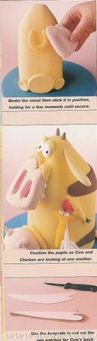 """Торт """"Бешенная корова"""" Вырезать форму конуса из торта и покрыть ее мастикой - 3"""