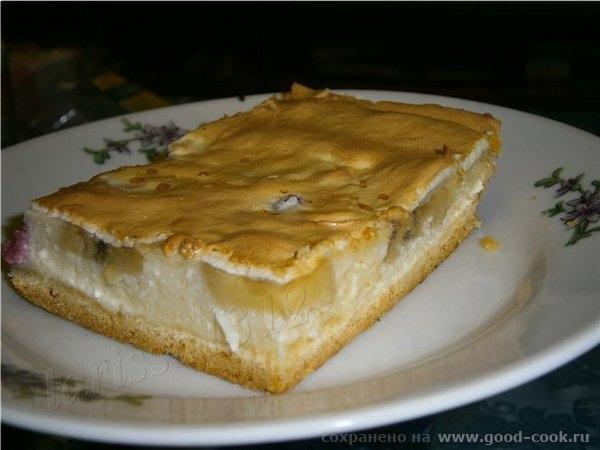 Творожный тарт с бананом и вишней Для основы: 1 ст